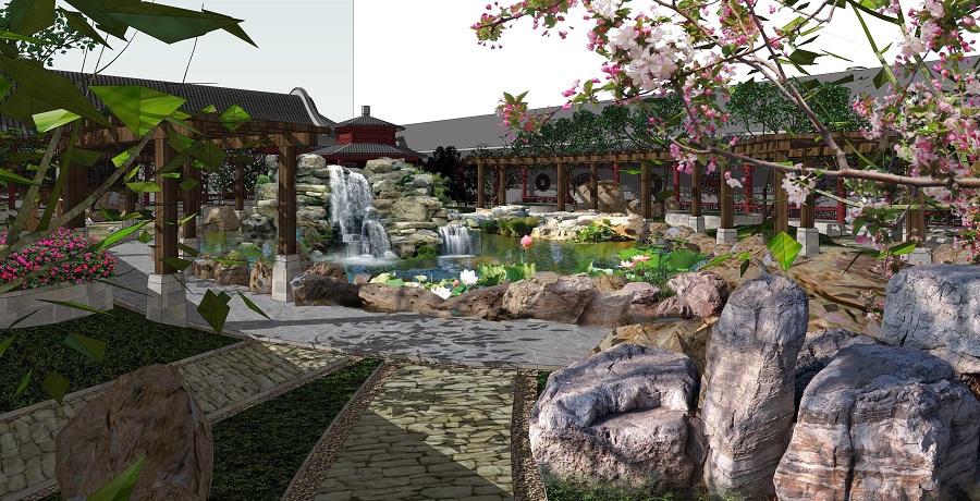 中式庭院屋頂花園