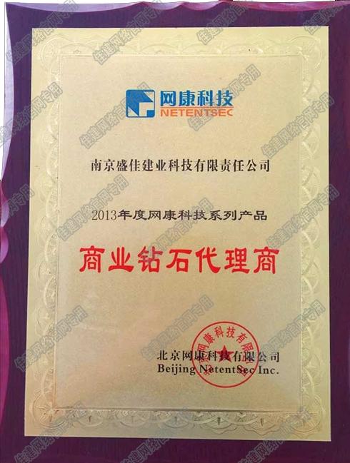 2013 网康科技 商业钻石代理商