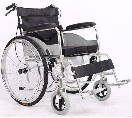 铝合金坐便轮椅