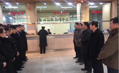 石家庄铁路学校领导看望西安站春运实习学生