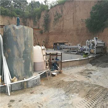砂厂污水处理现场
