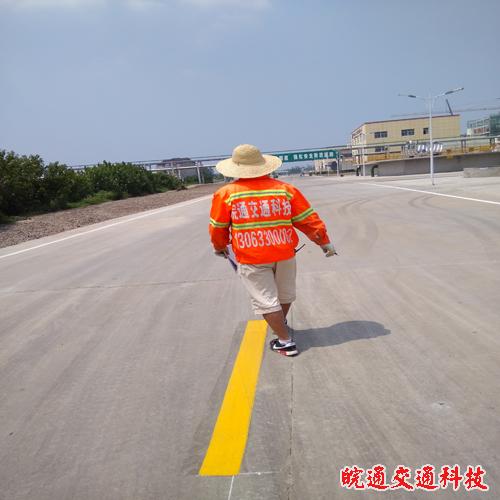 金禾化工C区道路划线