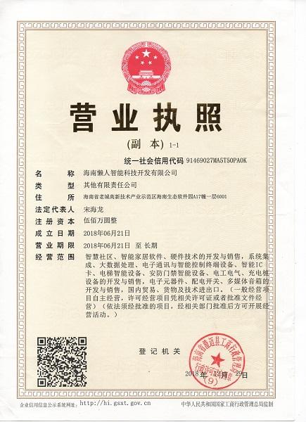 海南懶人智能科技開發有限公司