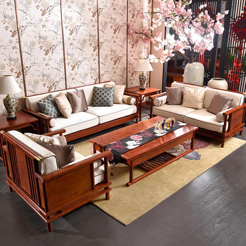 新中式整装客厅 6件套烫蜡工艺