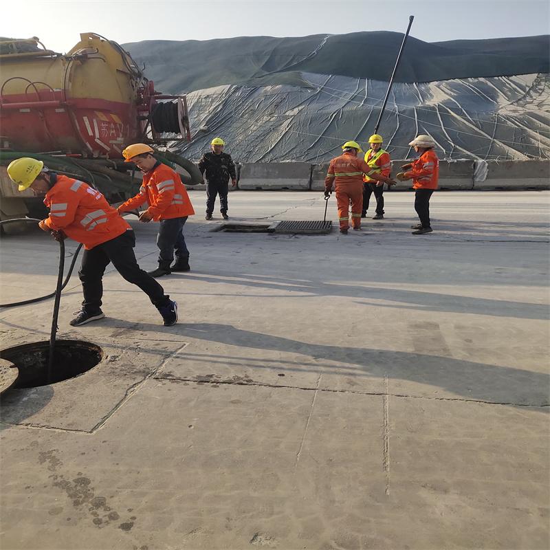 鼎悅團隊---工業園區管道清淤作業