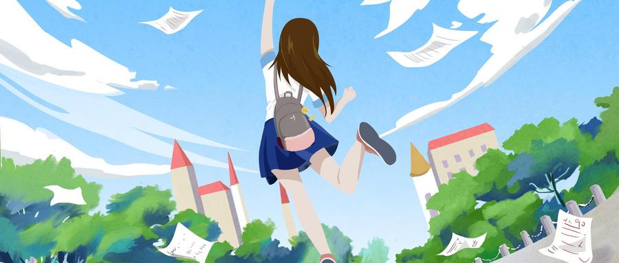 摄图网_401285611_wx_女孩考完开心毕业放学画面(非企业商用).jpg